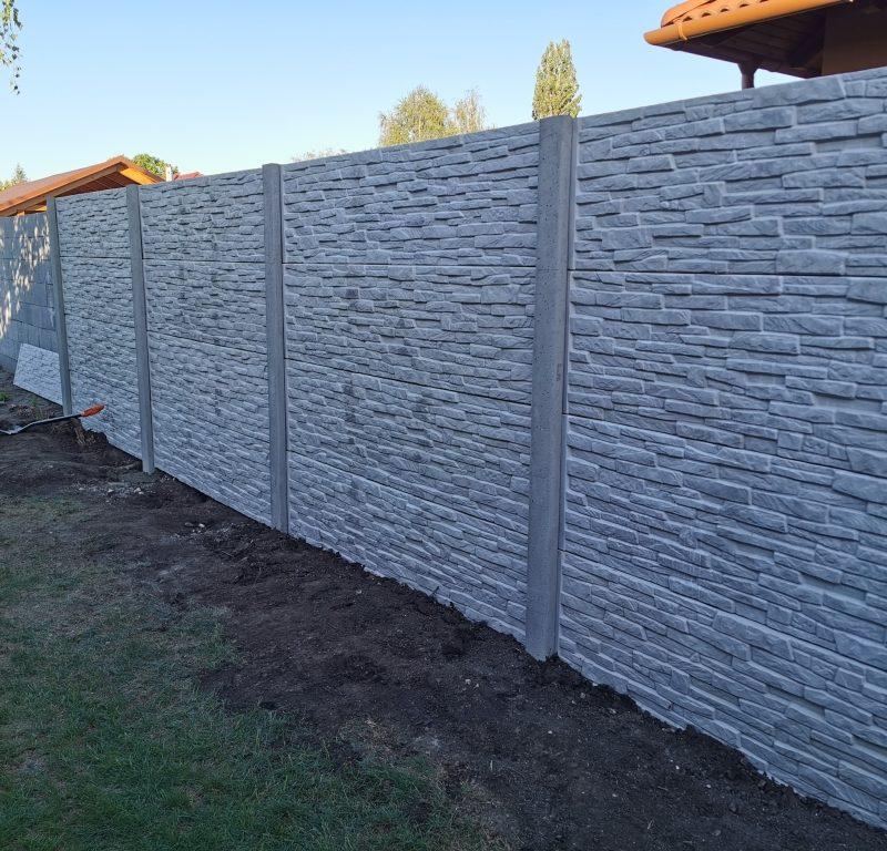 Gárdony Törkő (standard) betonkerítés